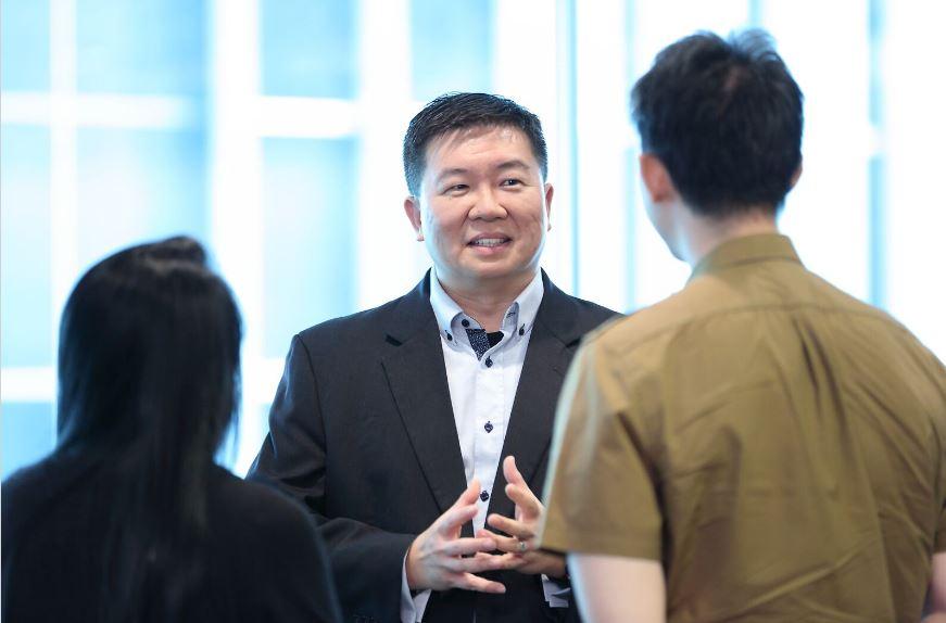 Richard Koh, National Technology Officer of Microsoft Singapore at the media launch of IEX (via U Future Leaders Programme, NTUC)