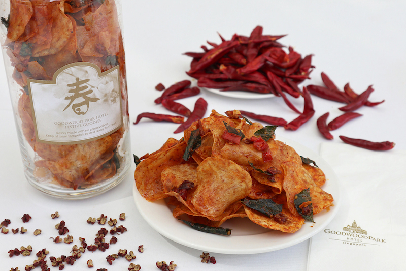 Salted Egg Yolk Yam Chips with Sichuan Spice from Goodwood Park Hotel
