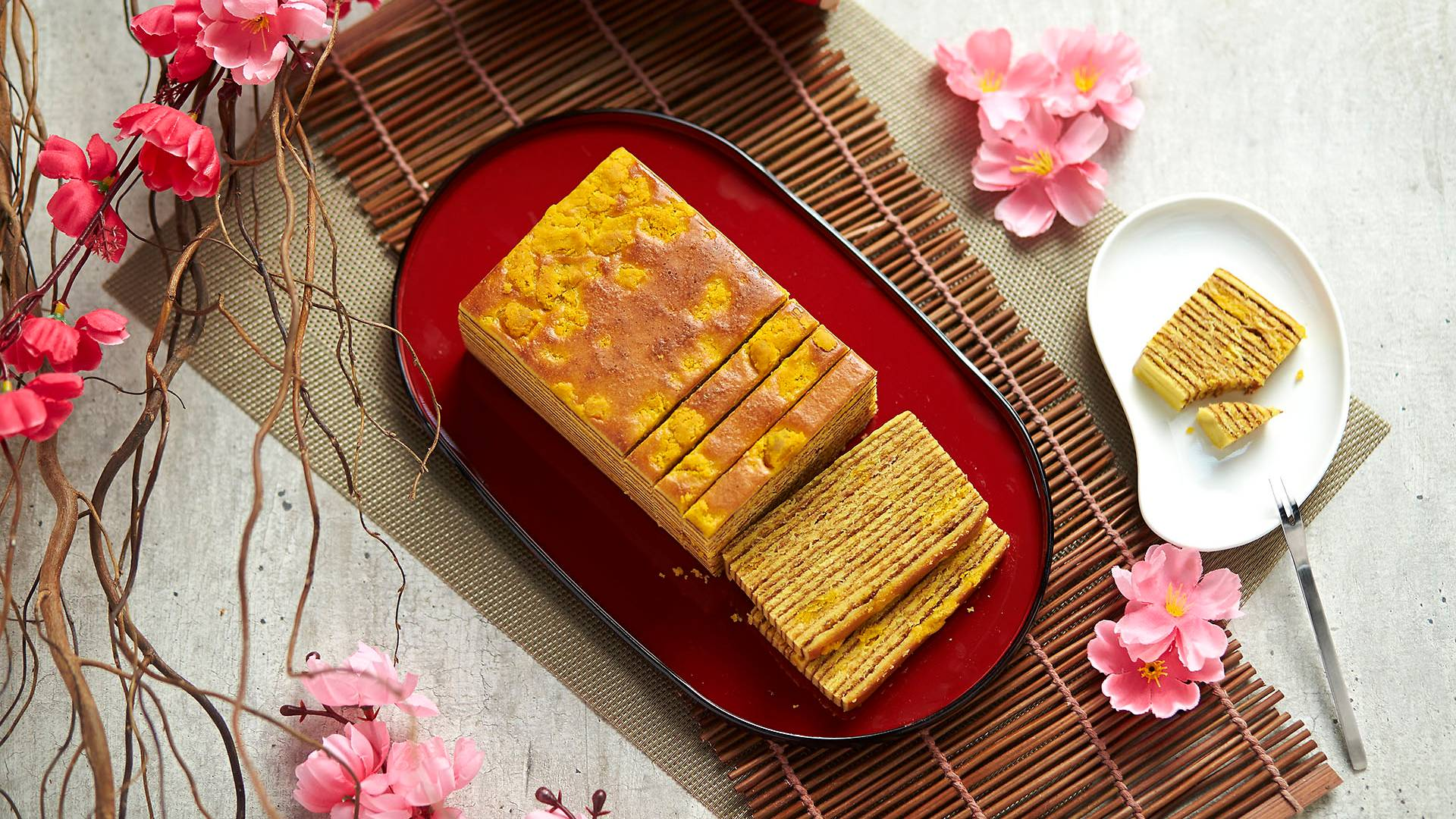 Salted Egg Kueh Lapis from Ollella