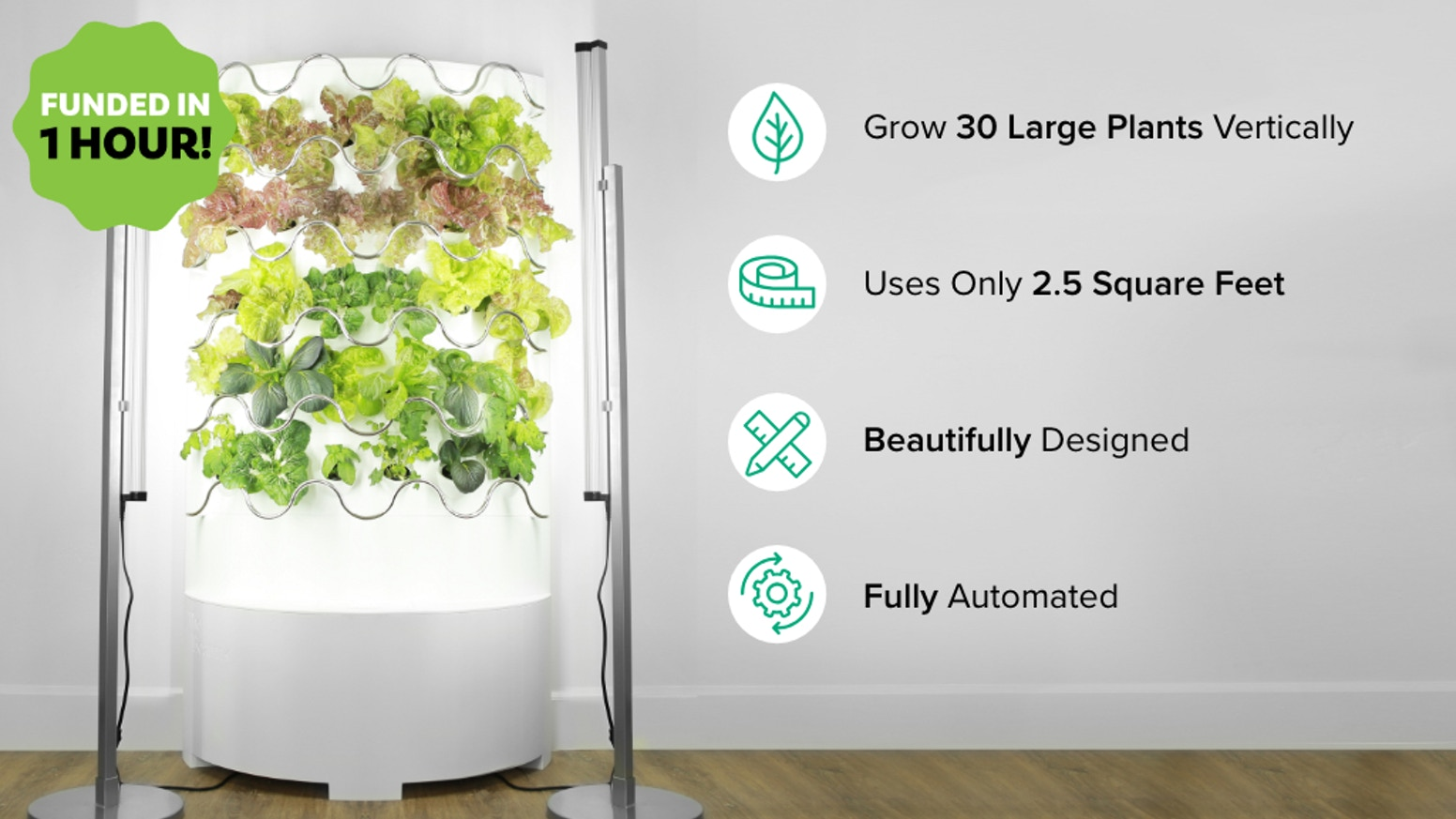 Vertical garden urvan farm technology kickstarter