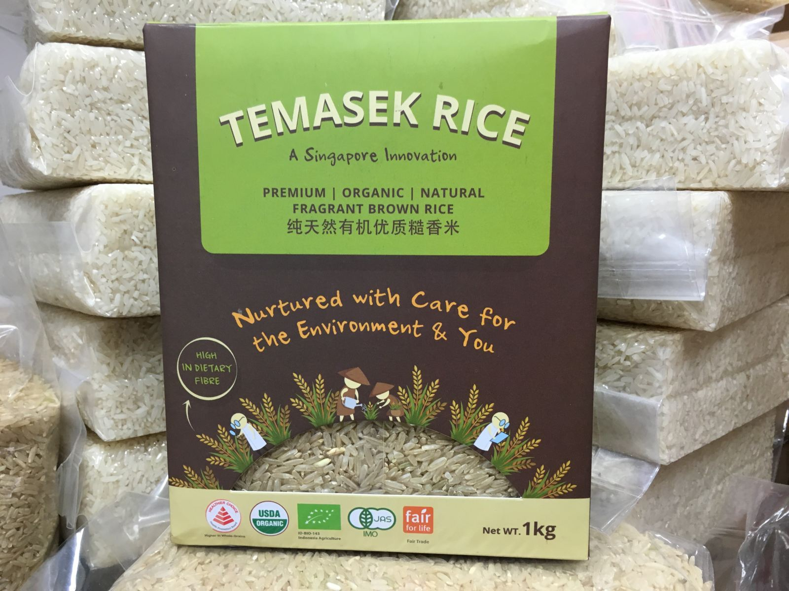 Temasek rice agriculture urban farming high tech