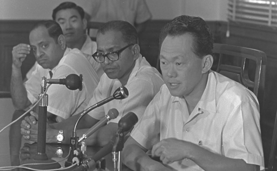 Lee Kuan Yew and Devan Nair