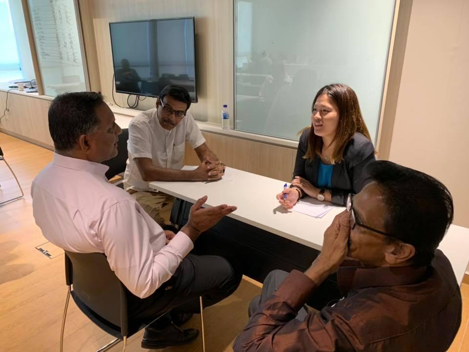 Mr Gopal Krishnan amidst a mediation training course.